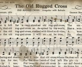 Old Rugged Cross Piano Sheet Music Items Similar To The Old Rugged Cross Sheet Music
