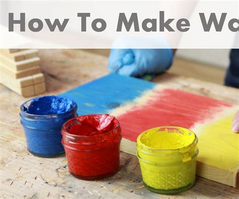 how to make wax how to make wax paint