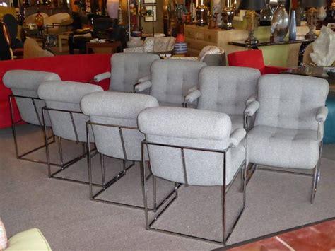 plush dining room chairs eight modern plush milo baughman thin line armed dining