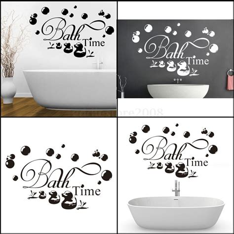 stickers bathroom bath time ducks bubbles wall stickers decal removable