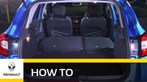 renault captur trunk renault captur with increased storage space youtube
