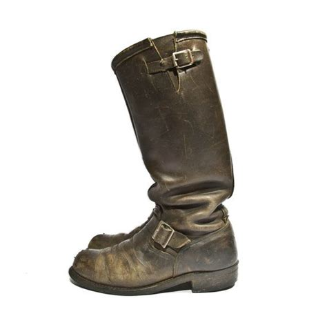 engineer biker boots vintage engineer boots distressed biker boots black