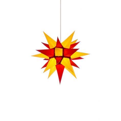 weihnachtsstern mit beleuchtung herrnhuter weihnachtsstern i4 gelb rot mit beleuchtung