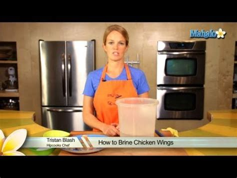 how to brine chicken wings youtube