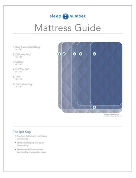 mattress sizes guide mattress size chart guide sleep number