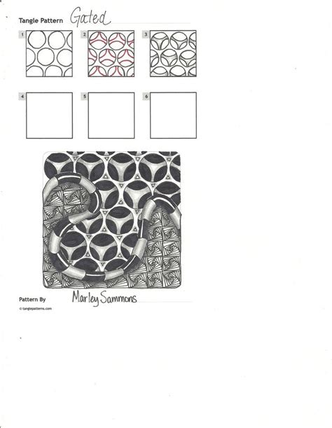 gated pattern image gated steps zentangle g pinterest