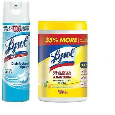 lysol disinfectant  pack disinfectant spray oz wipes ct  ebay