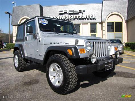 jeep rubicon silver 2006 bright silver metallic jeep wrangler rubicon 4x4