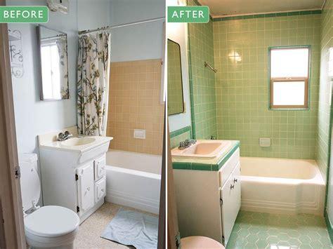 retro green bathroom laura s green b w tile bathroom remodel in progress mint