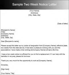 Two Weeks Notice Format by Two Weeks Notice Letter Templates Free Pdf Word Documents Creative Template