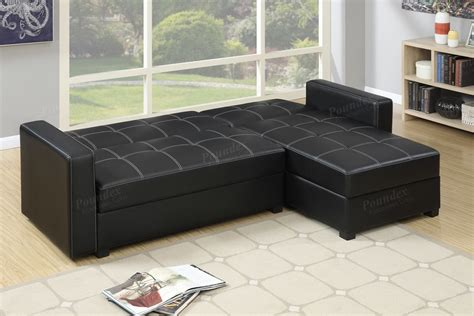 leather sectional sofa bed black faux leather storage sectional sofa bed
