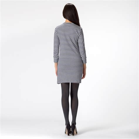 Dress Aliza Navy amour vert aliza striped sweater dress womens apparel at