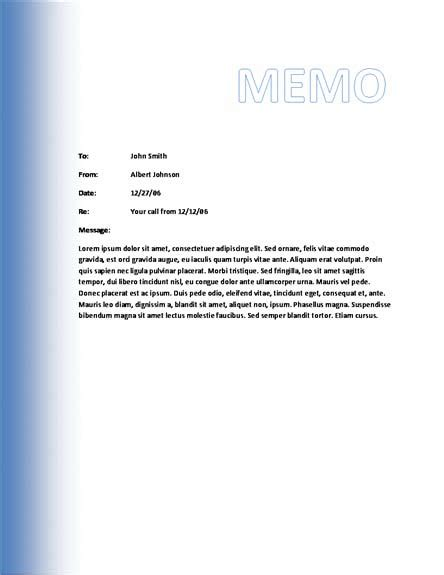 10 best images of microsoft business memo templates
