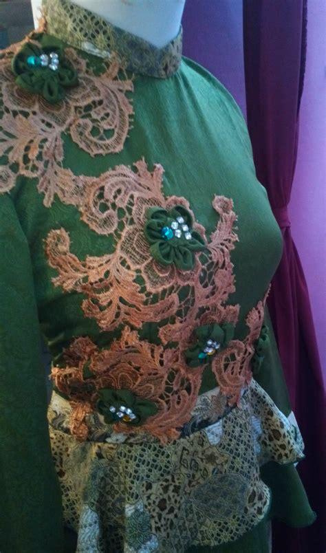 desain dress sepan dress batik cantik dengan aplikasi bunga