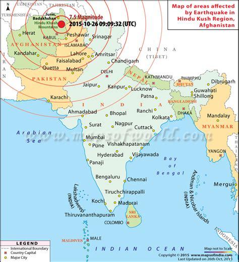 hindu kush map earthquakes in afghanistan areas affected by earthquakes in afghanistan