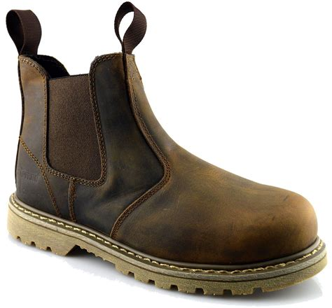 size 12 boots mens leather goodyear welted safety dealer chelsea work