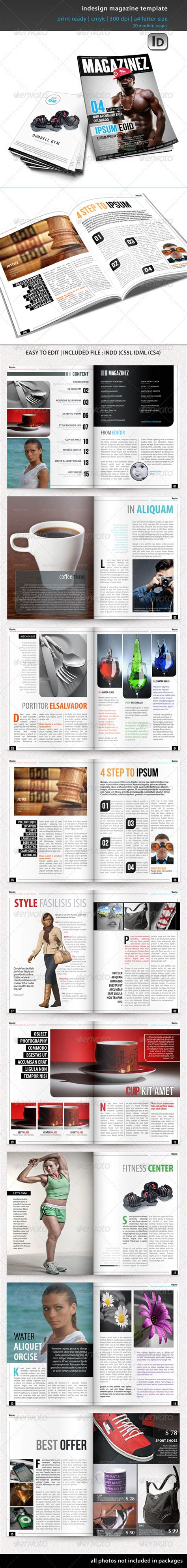 magazine templates for indesign indesign magazine template graphicriver
