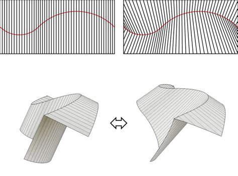 Curved Paper Folding - 1000 images about curved folding fabrication simulation