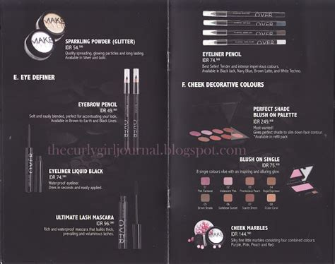 the curly journal makeup brand make