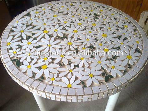 marble mosaic flower pattern table topmosaic garden