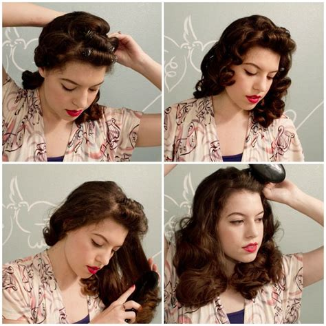 how to do vintage hairstyles how to do pin curls at vixen vintage hair and makeup