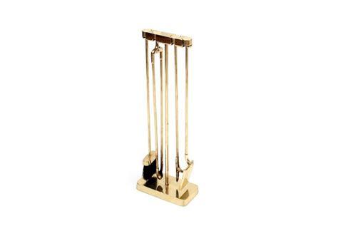 brass fireplace tools modernist brass fireplace tool set by virginia