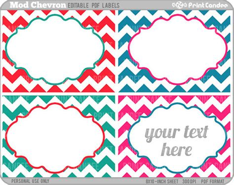 editable label templates rectangle editable pdf 8x10 mod chevron labels