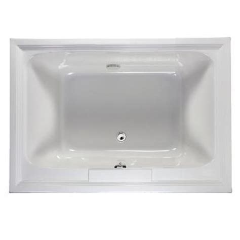 fiberglass bathtubs home depot american standard town square 5 ft x 42 in center drain soaking tub in white 2748