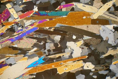 Tremolite Actinolite Thin Section by Tremolite Schist Saltdal Thin Section Microscope