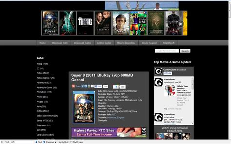 download film gratis ganool ganool situs penyedia download film dan game gratis