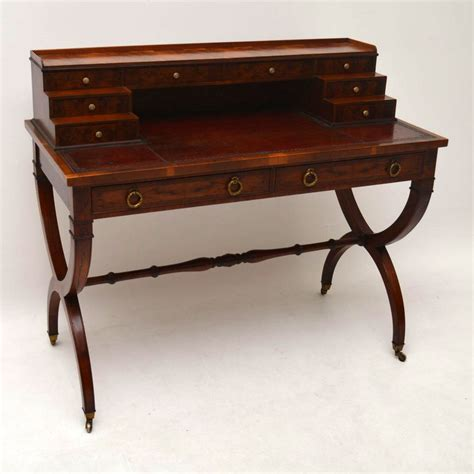 leather top writing desk antique yew wood leather top writing table desk la72246