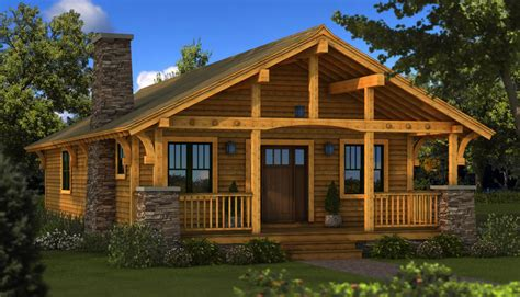 boulder brook lodge house plan cabin plans style cottage