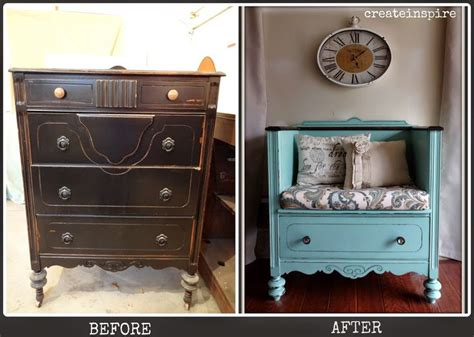 turn a dresser into a bench createinspire dresser turned bench painted furniture