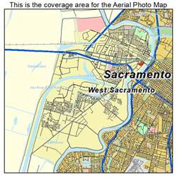 aerial photography map of west sacramento ca california