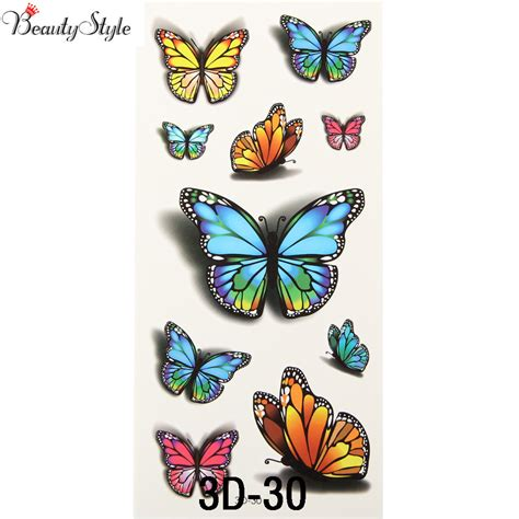 butterfly tattoo cost aliexpress com buy 10x inspire colorful 3d sticker on