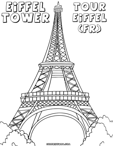 printable coloring page of eiffel tower eiffel tower coloring pages coloring pages to download