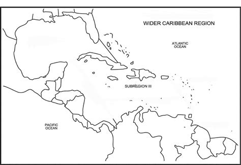 map outline of central america caribbean islands blank map ntskala