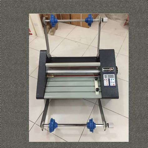Alat Press Plastik Laminating diameter roll dan panjang plastik laminating
