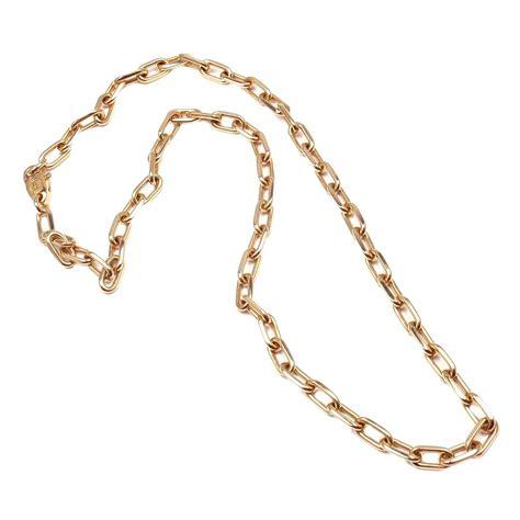 """Cartier Santos Dumont 17"""" Long Link Rose Gold Chain"""