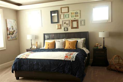 pretty frames   wall eclectic bedroom portland