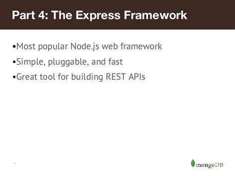 simple node js web framework tdd a rest api with node js and mongodb