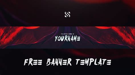 Free Gfx Clean Youtube Banner Template Free Download Photoshop Youtube Clean Banner Template