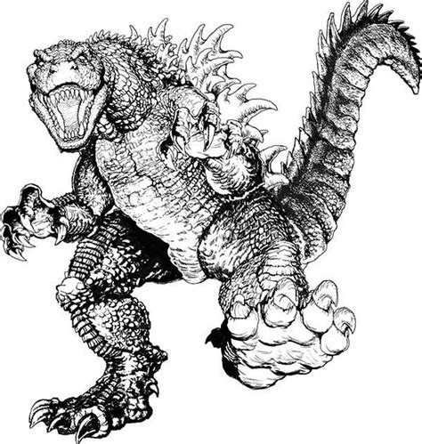 godzilla 2 coloring pages 59 best lineart godzilla images on pinterest monsters