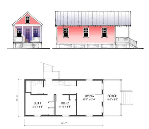 Katrina Cottage Floor Plans | the katrina cottage model 544