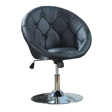 coaster furniture 102580 swivel chair in chrome with black