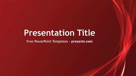 themes for powerpoint red free abstract red powerpoint template prezentr