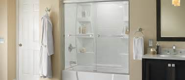 bathtub shower combo bath enclosure ideas delta shower
