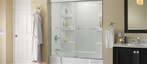How To Install A Bathtub Door Bathtub Shower Combo Bath Enclosure Ideas Delta Shower