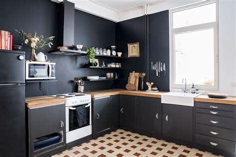 black kitchen walls home renovation black kitchen walls