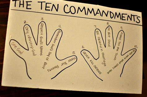 10 commandments craft for 10 commandments children s ministry 10